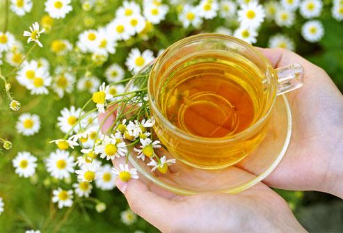 چاي بابونه و حس آرامش